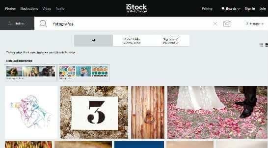 iStockphoto mejores páginas para fotogragfia