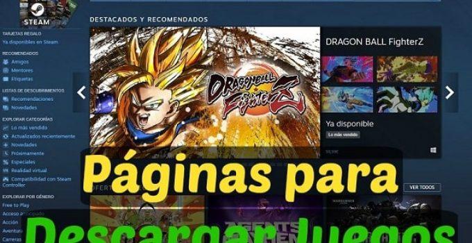 webs para descargar games