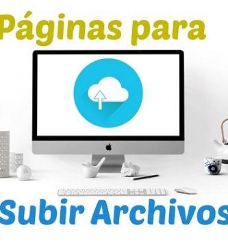 webs para subir archivos