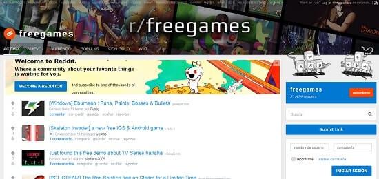 reddit-freegames paginas para descargar juegos
