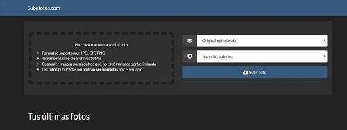 subefotos servidor de imagenes