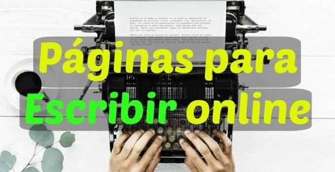 mejores páginas para escribir online