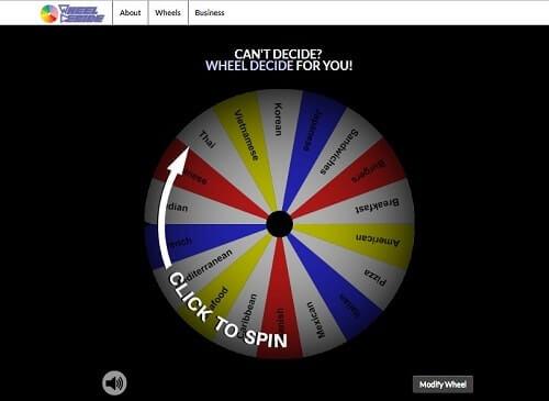 wheeldecide hacer sorteo online