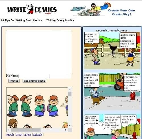 writecomics programa para hacer historietas gratis
