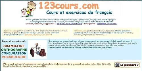 123cours aprender frances gratis y rapido