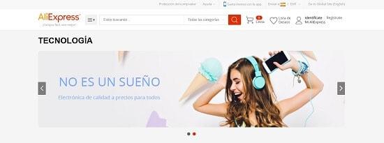 AliExpress Tiendas móviles España