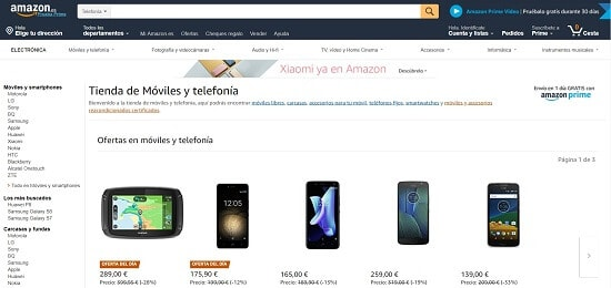 Amazon Donde comprar smartphone