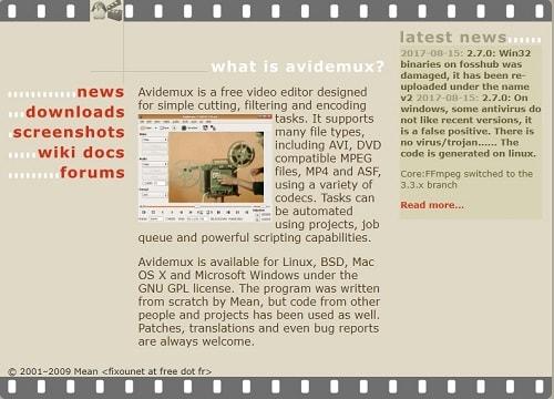 Avidemux como editar videos