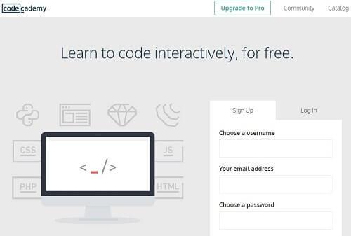 Code Academy programas para aprender a programar