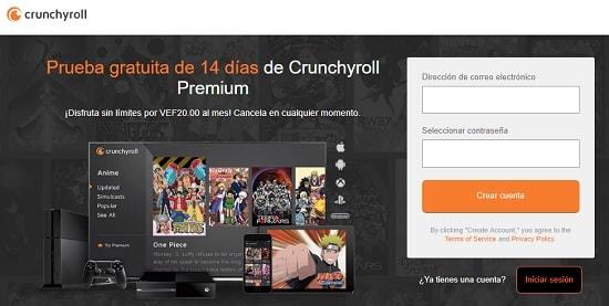 CrunchyRoll Todo manga en español