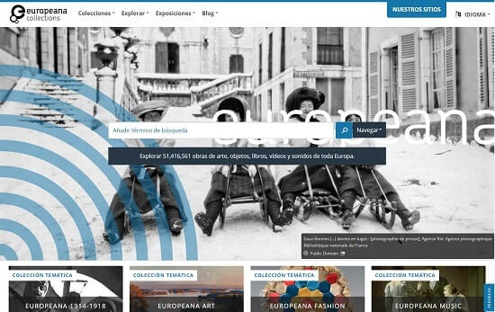 Europeana web