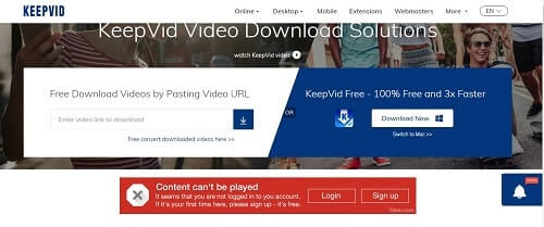 KeepVID descargar videos