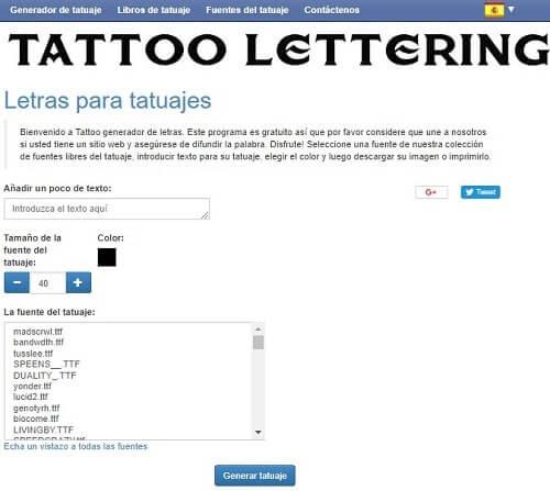 tattoo lettering generador de letras