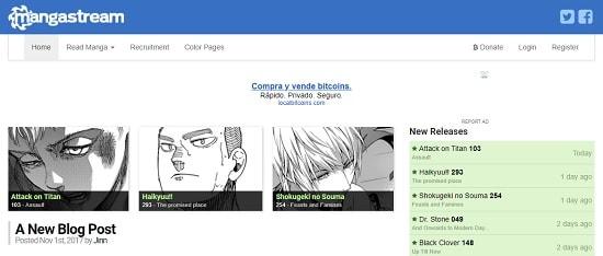 MangaStream Mejores páginas para ver manga