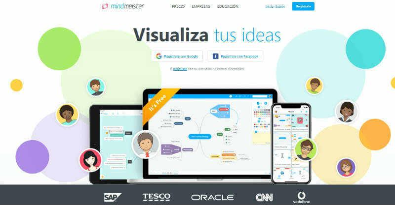 MindMeister programa para hacer mapas conceptuales con imagenes