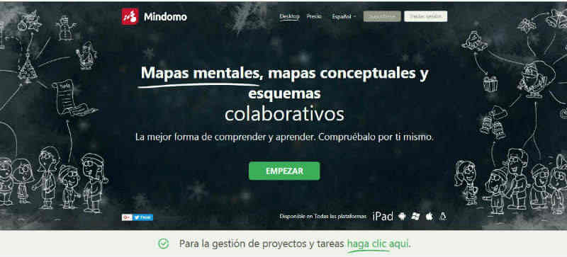 Mindomo mapas conceptuales online sin registro