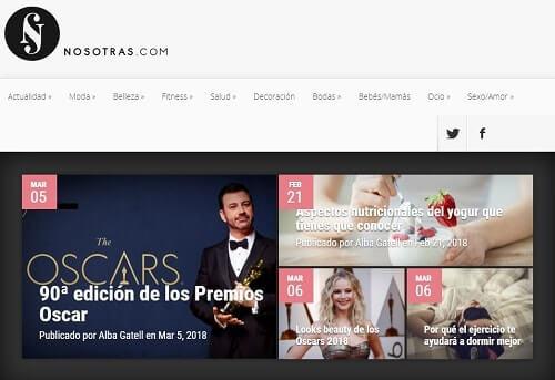 nosotras.com mujeres en la web