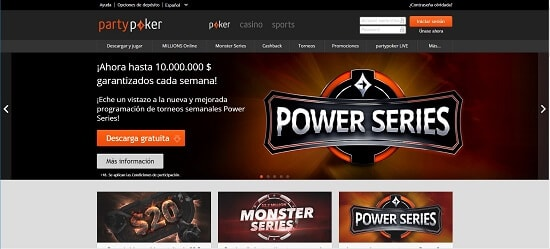 Party Poker Póker online con dinero real