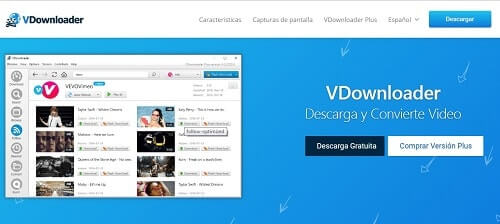 Vdownloader pagina para bajar videos youtube