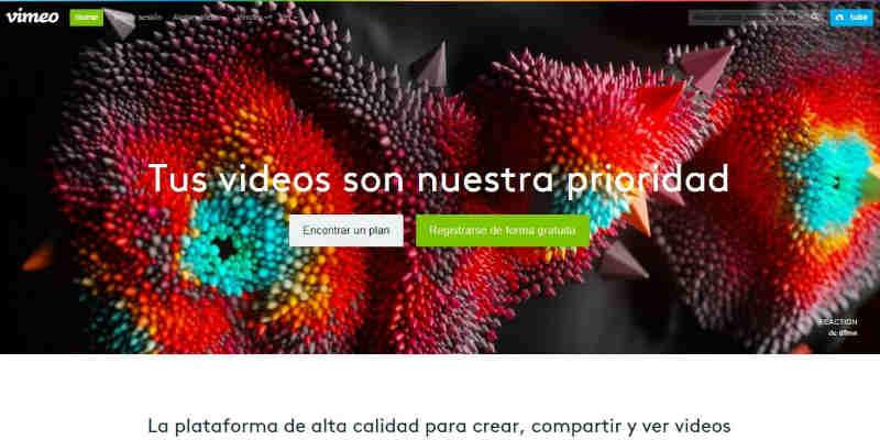 Vimeo Plataformas de vídeo online