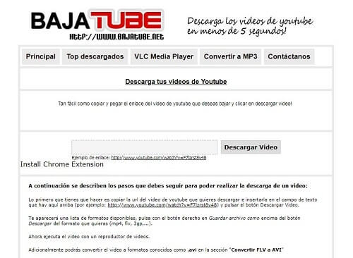 bajatube portales descarga videos