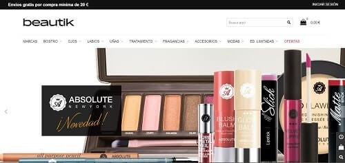 beautik webs de maquillaje