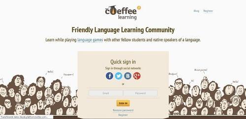 coeffee practicar speaking online