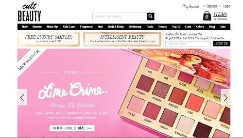 cultbeauty tiendas de maquillaje online