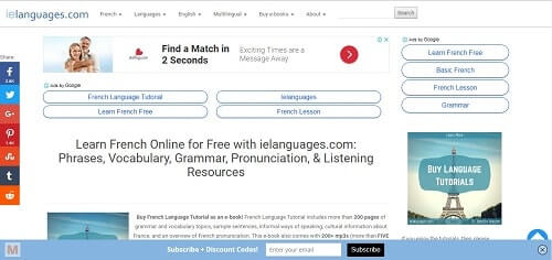 ielanguages frances on line