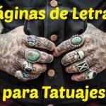 webs de letras tatuajes