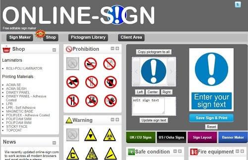 onlinesign Programa para hacer carteles facil