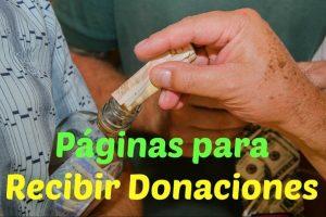 webs para recibir donaciones