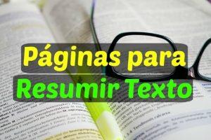 webs para resumir textos