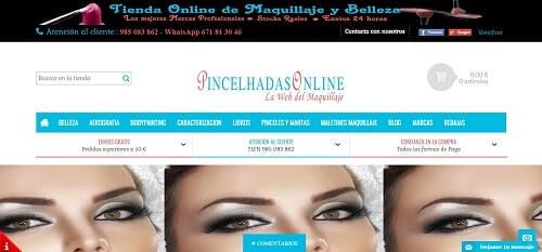pincelhadas portales de maquillaje