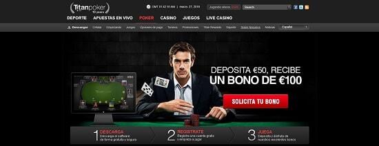 Titan Poker Mejor póker online