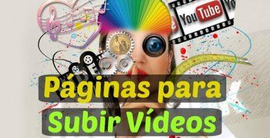 páginas para subir vídeos online