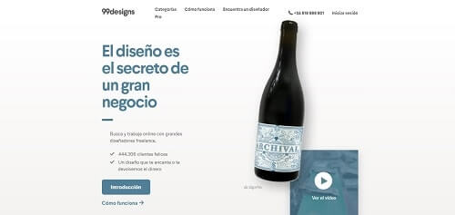 99designs paginas freelance