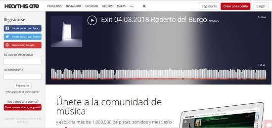 Hearthis Como subir un audio a Facebook