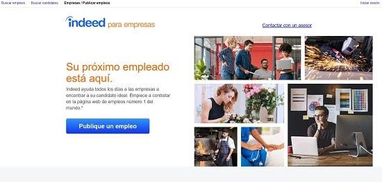 Indeed publicar una oferta de empleo