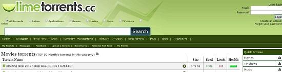 limetorrents mejores paginas para descargar peliculas utorrent