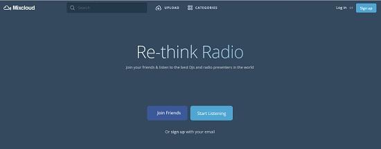 Mixclou Paginas para subir podcast