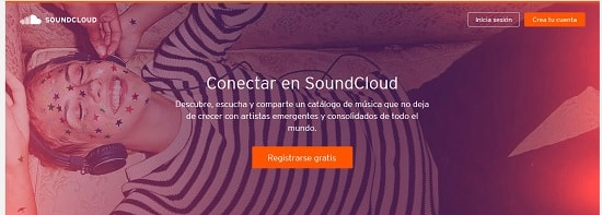 SoundCloud Páginas para subir música