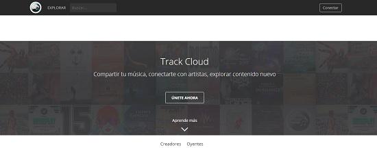 TrackCloud Subir música gratis
