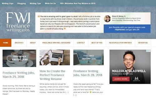 freelancerwritinggigs trabajos en linea