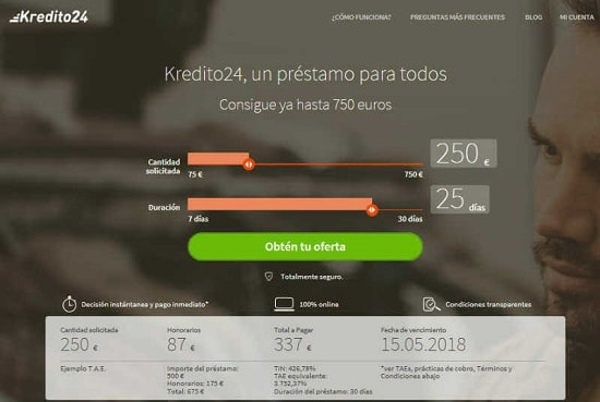 Kredito24 Prestamos urgentes