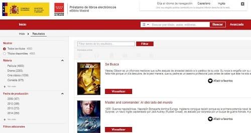 eBiblio películas online