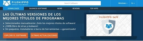 FileHippo descargar programas sin costo