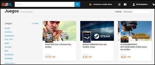 Comprar juegos en linea