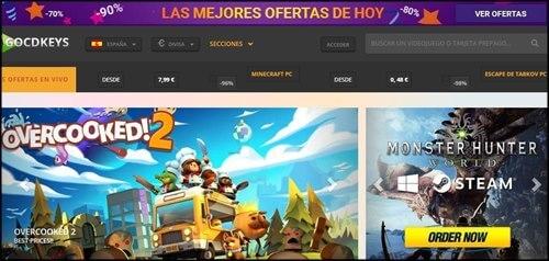 Paginas de juegos baratos en internet