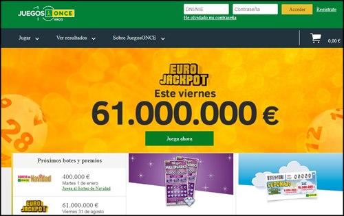 juegos once euro jackpot
